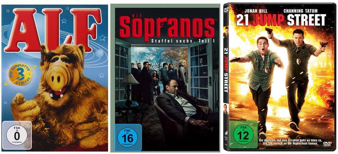 3 TV Serien für 25€ und mehr Amazon DVD oder Blu ray Angebote