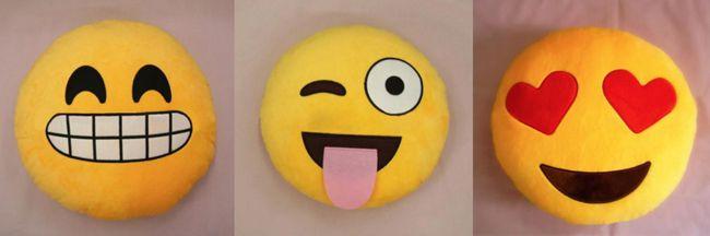 Emoji Smiley Kissen