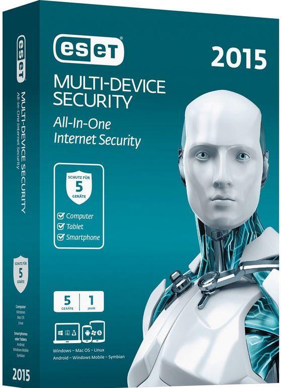 ESET 2015   Internet Security 1 Jahr für 5 Benutzer zum Preis von 24,95€
