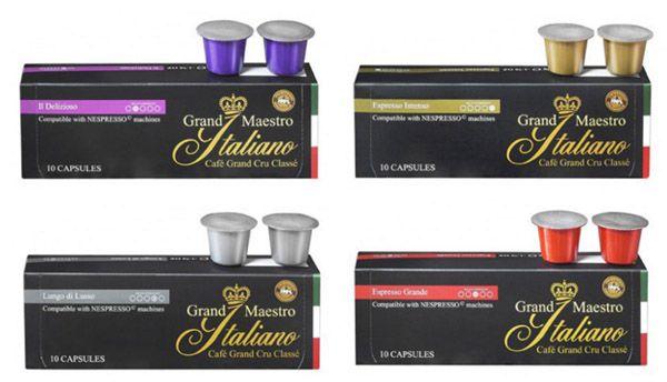 100 Kapseln Grand Maestro Italiano für 19,40€   für alle gängigen Nespresso Geräte   Update