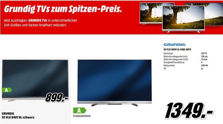 Grundig  Grundig 42VLE8471   3D TV mit triple Tuner für 399€ bei der Media Markt Grundig TV Aktion!