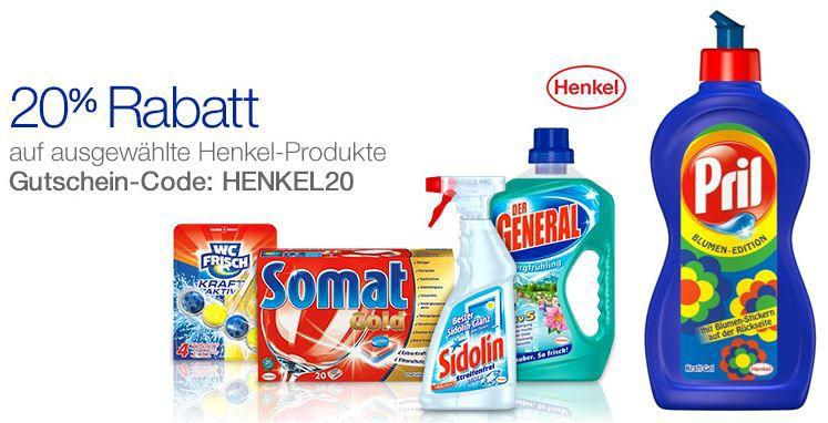 Henkel Reinigungs Produkte mit 20% Rabatt bei Amazon