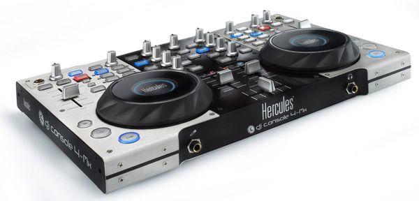 Hercules 4 MX DJ Controller mit Audio Interface + Tragetasche für 179€