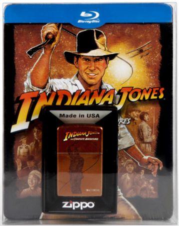 Indiana Jones   The Complete Adventures Blu ray Steelbox + Zippo für 34,99€ (statt 55€)