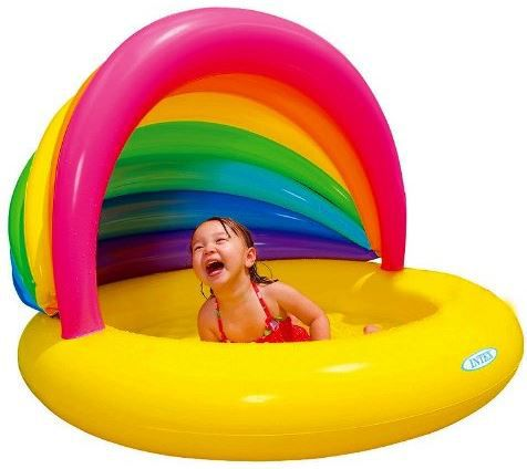 Intex 57420NP   Klein Kinder Pool mit Rainbow Shade ab 6,95€