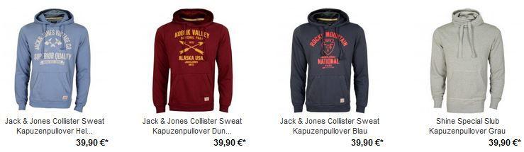 Jack & Jones Collister Hoodie für 27,93€ dank 30% extra Rabatt auf Angebots Ware!