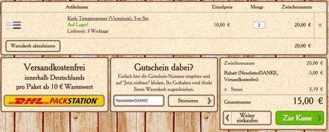 Karl Warenkorb Victorinox SwissClassic 6er Set Tomaten  und Wurstmesser für 15€   Update