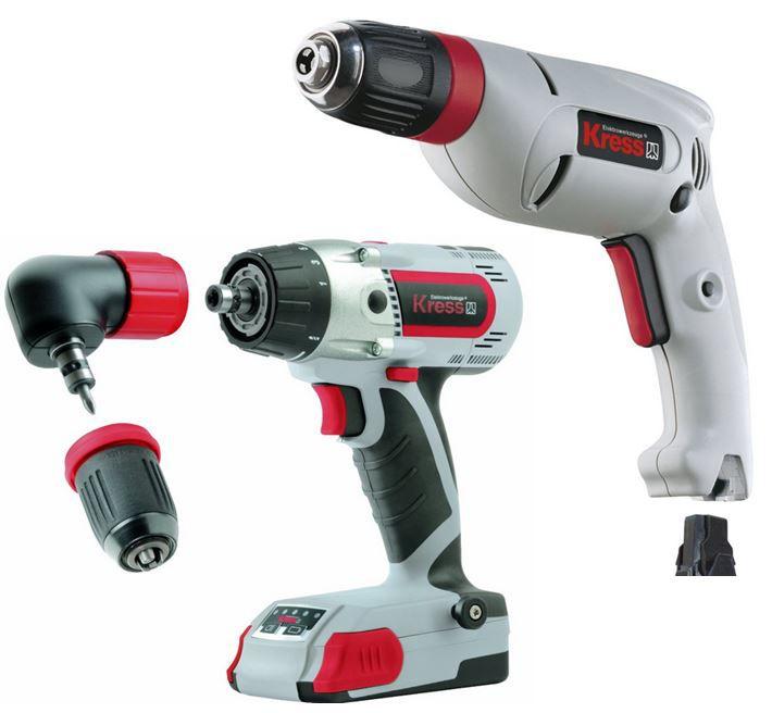 KRESS Bohrmaschine statt 107€ für 72€   KRESS Akku Bohrschrauber statt 298€ für 171,28€   Hammer!