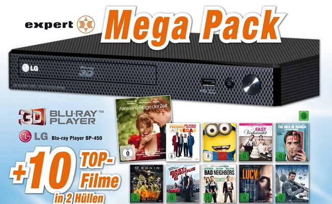 LG BP420 10 Filme LG BP450 3D Blu ray Player + 10 Blu ray Filme ab 99€