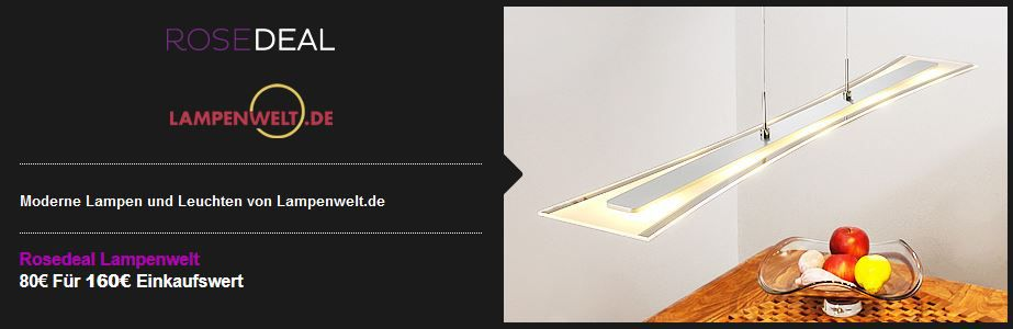 Lampenwelt Lampenwelt Gutschein im Wert von 160€ für nur 80€