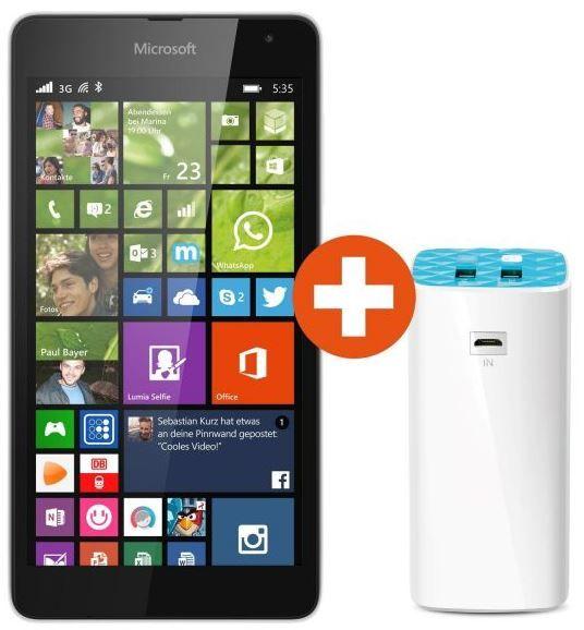 Lumia 535 Microsoft Lumia 535   Win 8.1 Phone 8GB, 5 Zoll + Powerbank für 101,99€