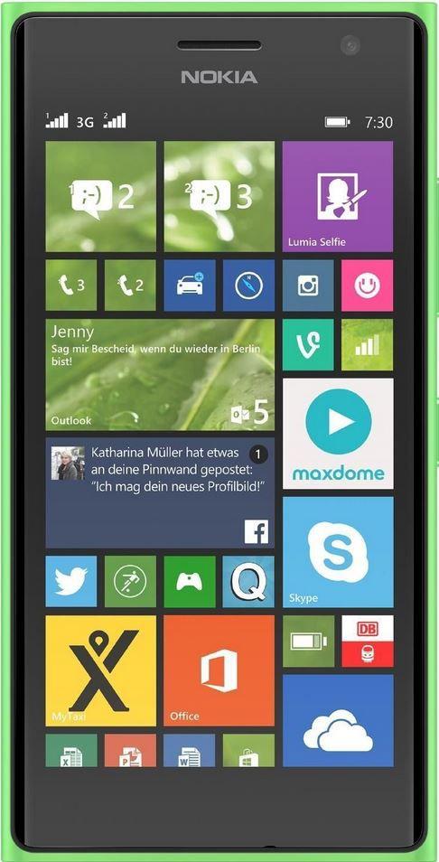 Lumia 730 gruen Nokia Lumia 730 Dual Sim Smartphone   4,7 Zoll, 1,2GHz, Windows 8.1 für 149€   Update