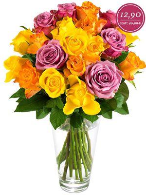 Maja Rosenstrauß mit 20 bunten Rosen für 18,80€