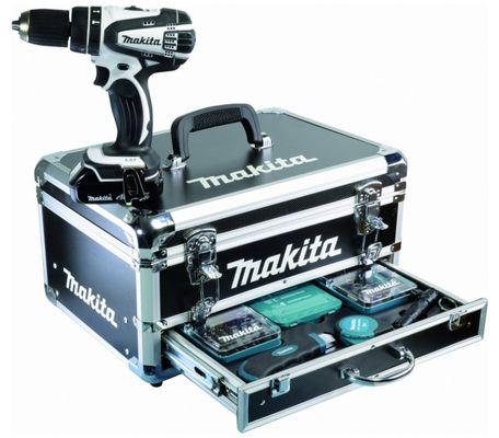 Makita DHP456RYW1 Makita DHP456RYW1 Schlagbohrschrauber + 2x 1,5Ah Akku + Alukoffer + Zubehör für 234,85€