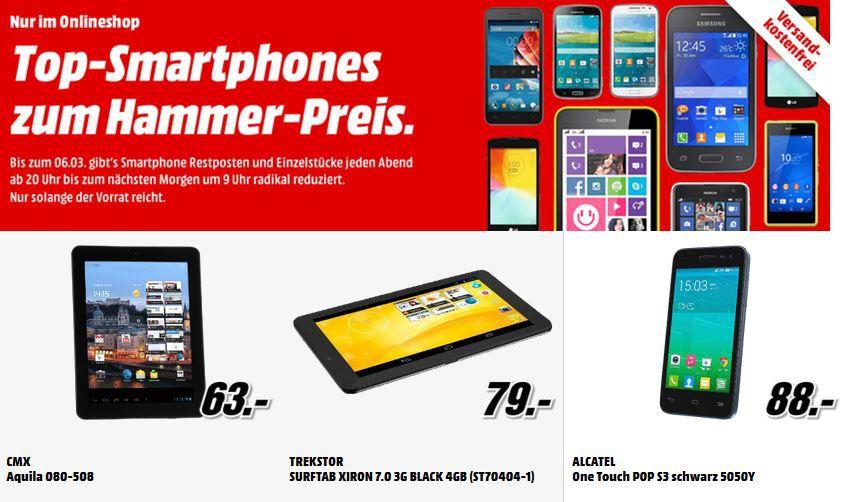 MediaMarkt Smartphones1 Trekstor SurfTab Xiron 7.0 3G für 79€ in der Media Markt Restposten Aktion