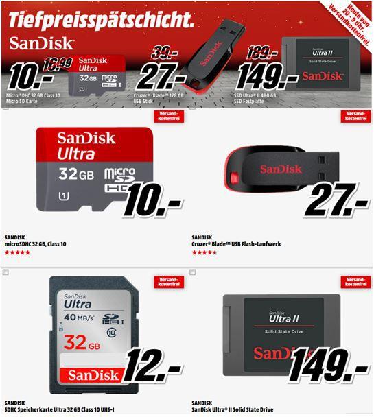 MediaMarkt tiefpreis Aktion  SanDisk Ultra II SSD 480GB für 149€ in der MediaMarkt Tiefpreisspätschicht
