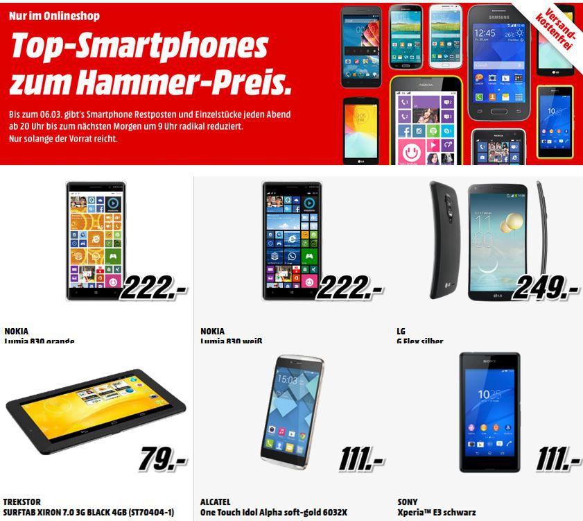 MediaMarkt LG G Flex Titan Silver für 249€ in der Media Markt Restposten Aktion