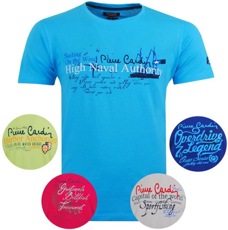 Pierre Cardin Pierre Cardin Herren Motiv T Shirt für je 11,95€