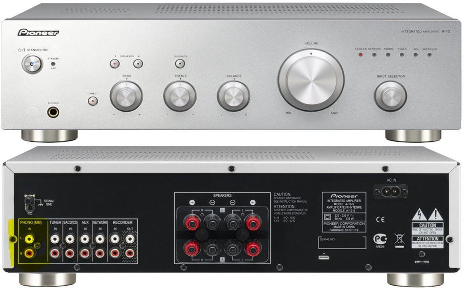 Pioneer A 10 S   Stereo Verstärker mit 2x 50 Watt mit Phono Eingang für 116€
