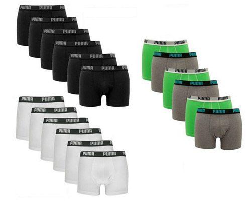 6 Puma Boxershorts verschiedene Ausführungen für je 17,99€ (statt 30€)