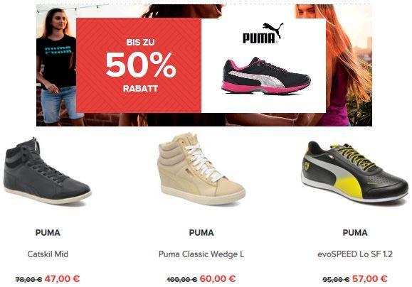 Puma2 Sarenza mit bis zu 50% Rabatt auf ausgewählte Damen und Herren Schuhe   auch Puma, Converse, Nike ...