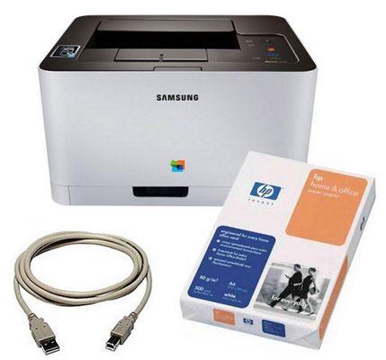 Samsung Xpress C410W Farblaserdrucker mit WLAN + 500 Blatt Papier für 119€