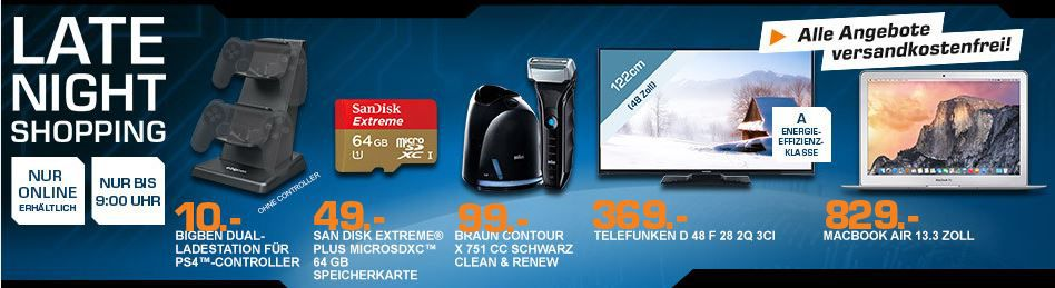 SANDISK Extreme PLUS microSDXC 64 GB Speicherkarte ab 44€ und mehr Saturn Late Night Shopping Angebote