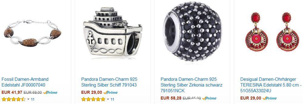 Schmuck1 Amazon mit 30% Rabatt auf ausgewählte Schmuckstücke