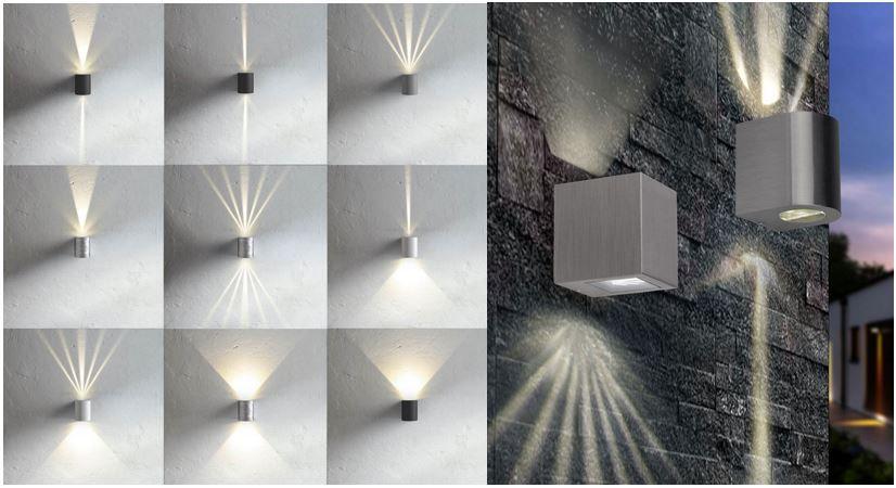 Skapetze s`luce Radial oder Beak   LED Aussen und Innen Wandleuchte für je 29,99€