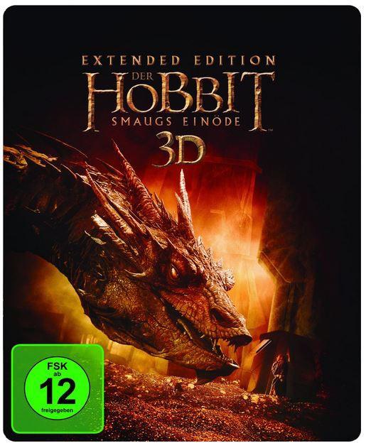 Der Hobbit: Smaugs Einöde Extended Edition 2D/3D BD Steelbook für 19,97€