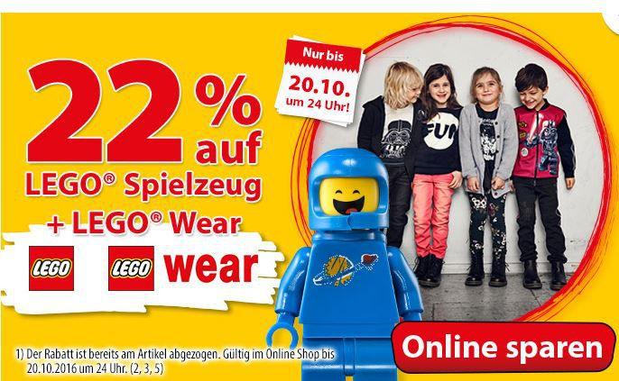 Spielwaren Rabatt 22% Rabatt auf Lego Spielwaren  & Wear + Babyausstattung bei Spiele Max