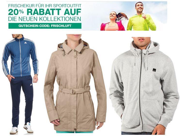 Amazon mit 25% Rabatt auf ausgewählte Sportbekleidung aus der aktuellen Frühjahr/Sommer Kollektion   Update
