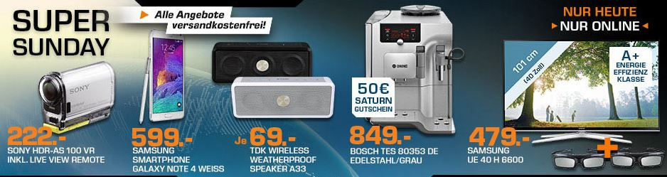 TDK Wireless Weatherproof Speaker A33 ab 64€ und mehr Saturn Super Sunday Angebote   Update
