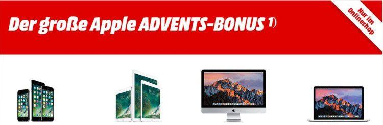 Apple Advents Bonus bei Media Markt   Bis zu 150€ Geschenkkarte auf viele Apple Produkte