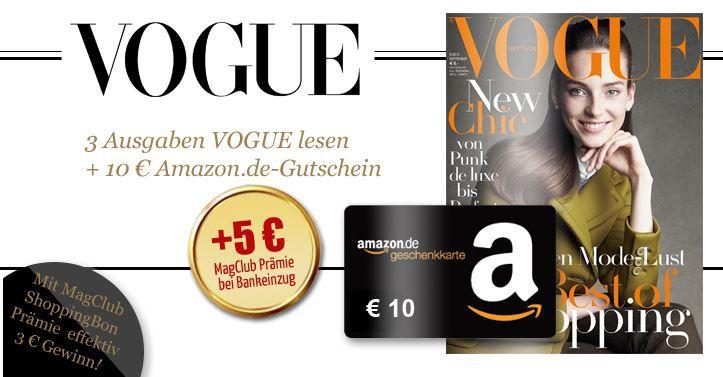 Vogue mini Abo   3 Ausgaben mit effektiv 3€ Gewinn