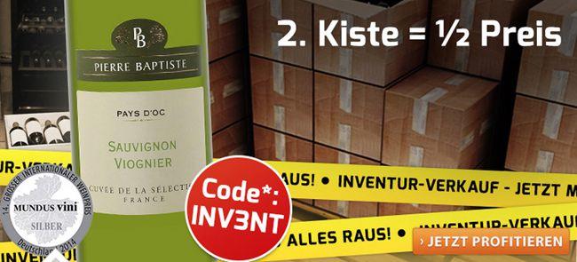 Weinvorteil Inventur Weinpakete zum halben Preis + weitere 25% Rabatt bei Weinvorteil