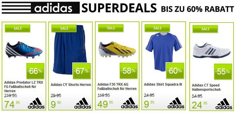adidas2 Adidas Superdeal mit bis zu 60% Rabatt bei Plutosport   z.B. Adidas AX 1 GTX Outdoor statt 89€ für 59,95€