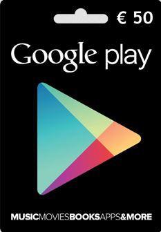 Google Play Gutschein im Wert von 50€ für nur 40€
