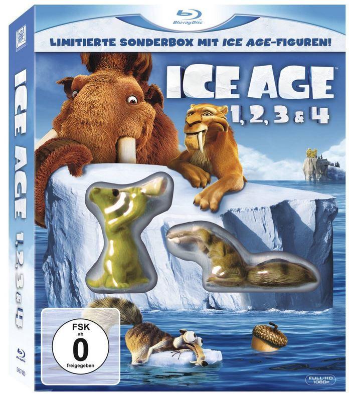 Ice Age Mammut Box limitierte Blu ray Sonderbox mit Figuren   Teil 1 4 ab 16,89€