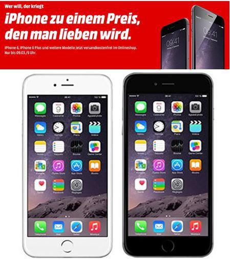 iphone Apple iPhone 6 Plus mit 64GB für 749€