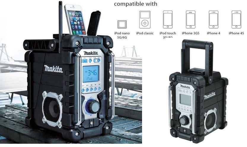 Makita DMR 103 B   Baustellenradio mit iPhone Dock für 99,90€