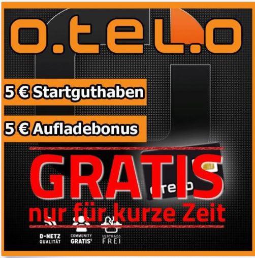 Otelo Prepaid Promotion   Otelo SIM Karte mit 5€ Guthaben kostenlos   Update!