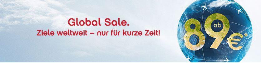 Air Berlin GLOBAL SALE mit Zielen weltweit ab 89€   z.B.: Mumbai von Stuttgart oder Düsseldorf ab 459 €