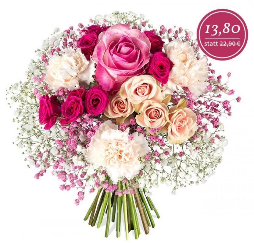 Alles Liebe Notre Dame Blumenstrauß mit rosa Rosen für 19,70€