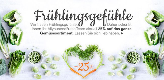 Allyouneedfresh 20% Gutschein auf Alles + verschiedene Rabattaktionen bei Allyouneedfresh   z.B. 92 Pampers Dry Junior Gr. 4+ für 15€