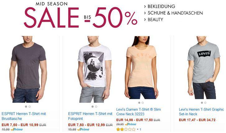Amazon Mid Season Fashion SALE mit bis zu 50% Rabatt!   Update