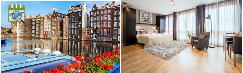 Amsterdam Amsterdam: Aufenthalt für 2 od. 4 Pers. in einem Studio oder Apartment  inkl. WiFi ab 59 €/Nacht