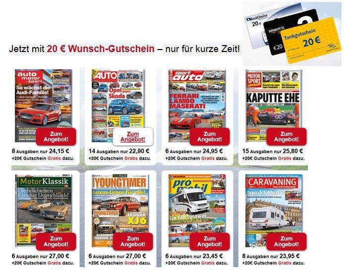 Auto Magazine verschenkt 14 Ausgaben Auto Strassenverkehr für 2,90€ dank 20€ Gutschein auch andere Autozeitschriften günstig   Update