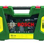 Bosch 91-tlg. TiN Bohrer und Bit Set mit Ratsche und Magnetstab für 24,91€