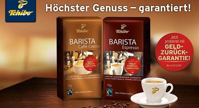 Barista Kaffee von Tchibo testen und bis zu 30€ Cashback erhalten